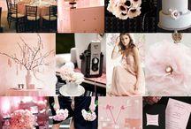 Blush, Black and White Wedding
