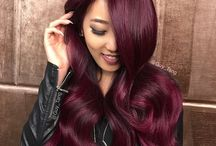 Burgundy, Plum, Mahogany Color Hairstyles