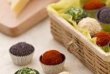 tartufi di formaggio ai 4 colori