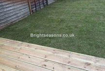 Wooden garden decking Esher / A wooden garden deck built for a lovely home in Esher, Surrey