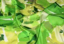 Šatovky, látky na šaty / Šatovky, šatové látky jednobarevné i vzorované. Módní látky na letní šaty.