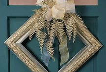 Picture frame wreaths