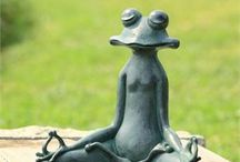 Garden Statues & Sculptures / Garden statues ranging from whimsical to beautiful kinetic wind sculptures