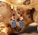 Oorbellen / Echte earcandy in goud, rosegoud of zilver. Gemaakt van de mooiste kralen en bedels.