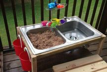 DIY Woodworking good children / Water and sand table