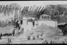 Corbusier - Desenho / Drawing / Suiça - 1887 / 1965