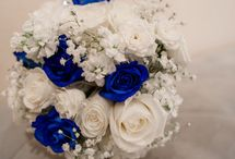 Bouquet blue roses