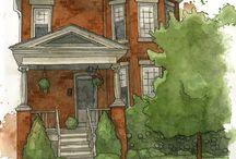 House Art Inspiration / Inspiration sur les maisons