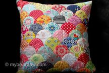 Patchwork Pillows / Inspiration for pretty patchwork pillows, handmade and quilted.