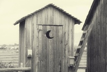 Old time outhouse  / by Donna Cannady