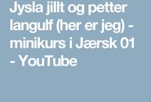 1.1 Lær Jærsk - Learn Jærsk, a Norwegian dialekt / Her finner du diverse minikurs i jærsk og promoteringsvideoer av ordboken Jysla jillt med Jærsk tale.