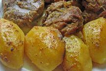 μελωμένο χοιρινό με πατάτες