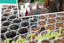 Tasty Tuesday Sweet Samples / Stop by Bakersbodega on Tuesdays for a Sweet Tasty Tuesday Taste and a free recipe!