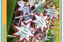 Test prep ideas for the classroom! / Super cute ideas to get students ready for testing.