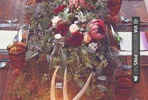 tavolo matrimonio invernale