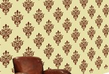 Wallpaper Stencils / Large stencils for decorating walls in your home