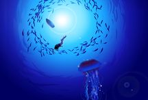 Under the Sea / All of the mysteries and breath taking beauty that is beneath the glassy surface.