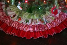 ruffle xmas tree skirts