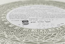 """The Siman Tov Ketubah / """"Siman Tov. May this be an auspicious time."""" is the fervent cry that follows the breaking of the glass at the marriage ceremony. It is an expression of the shared joy of the celebrants and their heartfelt wishes for the bride and groom's future."""