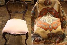 Home Decor - Area Rug Repurposing / DIY! Learn how to turn an old, worn area rug into a beautiful seat cover on our blog here:  http://bit.ly/1GDHDTj