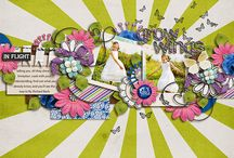 Layouts with LGFD templates / by Little Green Frog Designs