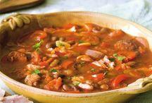 polévky a hlavní jídlo