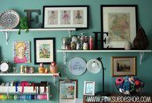 Art, books & shelves