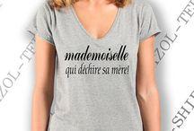Tee-shirt mademoiselle idée cadeau...