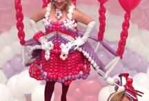 Balloon Dress Abiti con palloncini / Abiti realizzati completamente con palloncini Qualatex modellabili
