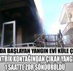 Alanya'da Mutfakta Başlayan Yangın Evi Küle Çevirdi