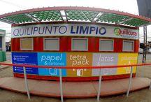 Punto Limpio Quilicura / Punto Limpio para empresa Alto Jardín y Municipalidad de Qulicura con alero de paneles en tetra pak , Quilicura RM.2016