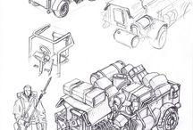Sketch Cars & Bikes
