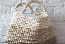 crocheted & knitted bags and purses
