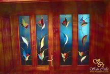 színes ólomüveg ablak betét dísz