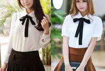 "blouses / Use coupon code ""cutekawaii"" for 10% off at https://www.sanrense.com/"