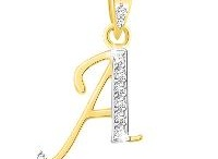 American Diamond Pendant A to Z Shape