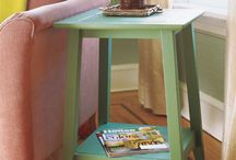 Wooden tables (bedside and coffee)
