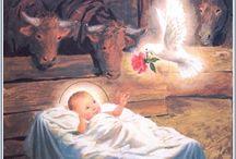 vánoční / obrázky, betlémy,
