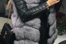 Fur coat outfits