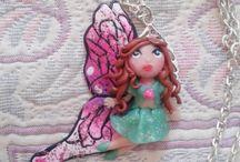 chibi, polymer clay, doll, fairies
