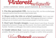 Pinterest Tips / Tips for using Pinterest to promote your small/indie business or to build community with your followers.