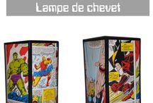 Déco Marvel By Abat-jour HOME / Les Super Héros s'invite chez vous !! Lampes spéciales Super-Héros – Hulk, Spider-Man, Captain America