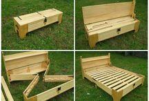 skládací postel-lavice