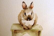 animals / watercolors