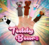 Cats & Dogs AND Teddy Bears!!! / www.fingerpuppetsinc.com
