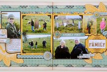 2 page scrapbook layouts / by Phyllis Antosz