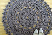 Crochet floor rugs