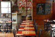 Restaurant Lighting / lighting up our town with good food, light fixtures + restaurant design | #getlit / by Lamps.com