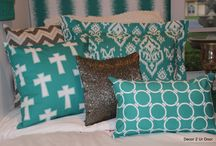Dorm Room Designs / Decor 2 Ur Door trendy online bedding retailer specializing in the dorm, teen, sorority and beyond for fashionistas! Design your own bedding or select one of our designer bed in a bag sets! Monograms galore!  / by Decor 2 Ur Door