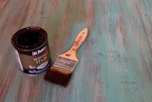 Layered chalk paint